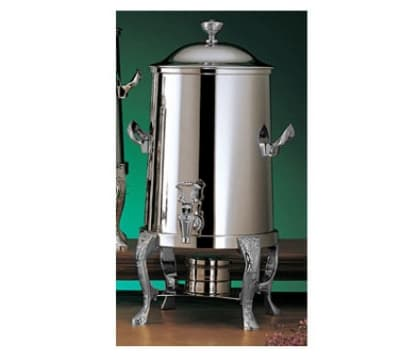 Bon Chef 47105C 5.5-Gallon Coffee Urn Server, Solid Fuel, Chrome, Renaissance