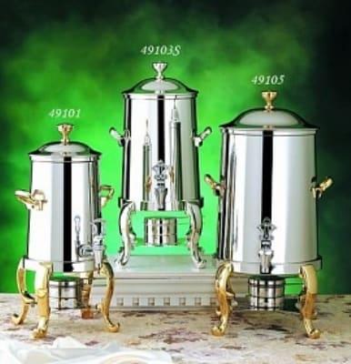 Bon Chef 49103 3.5-Gallon Coffee Urn Server, Solid Fuel, Roman