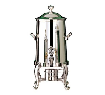 Bon Chef 49103C 3.5-Gallon Coffee Urn Server, Solid Fuel, Chrome, Roman