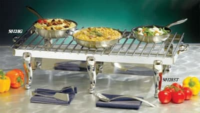 Bon Chef 50128ST Display Stand Only, Double w/ Solid Fuel Holder