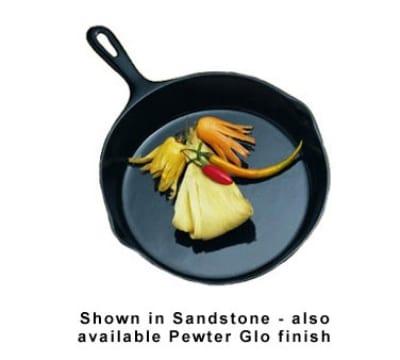 "Bon Chef 5026S BLK 10.5"" Aluminum Frying Pan w/ Solid Metal Handle, Black"