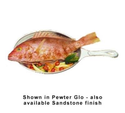 "Bon Chef 5037P Oval Skillet, 7-1/8 x 9-7/8"", Aluminum/Pewter-Glo"