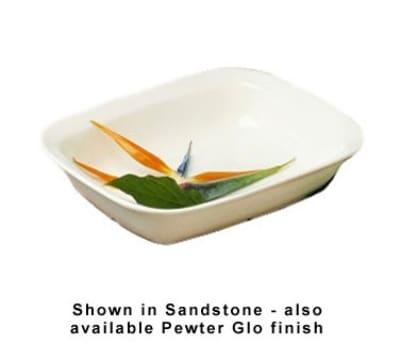 Bon Chef 5047S WH 1.5-qt Server Casserole Dish, Aluminum/White