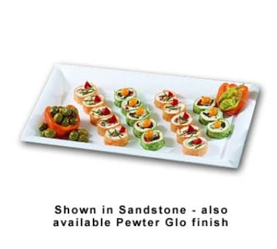 "Bon Chef 5056P Full Size Display Pan, 2"" Deep, Aluminum/Pewter-Glo"