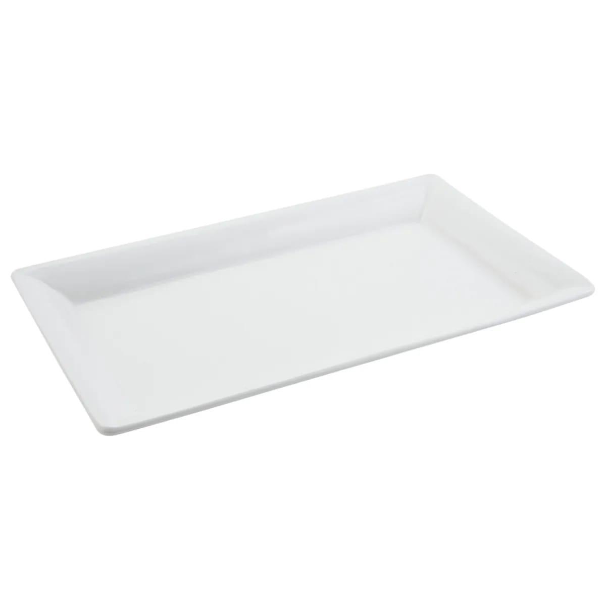 "Bon Chef 5057S Buffet Display Pan, 10 3/8 x 19 3/16"", Aluminum/White"
