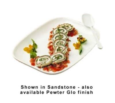 Bon Chef 5060P Shallow Serving Casserole Dish, 1-qt 12-oz, Aluminum/Pewter-Glo