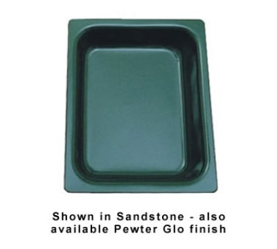"""Bon Chef 5065P 1/2-Size Chafer Food Pan, 2.75"""" Deep, Aluminum/Pewter-Glo"""