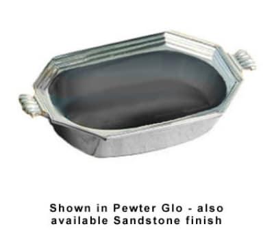 Bon Chef 5068P 2-qt Octagon Bouillabaisse Dish, Aluminum/Pewter-Glo