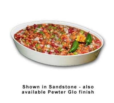 "Bon Chef 5088P 4-qt Oval Baker, 2-5/8"" Deep, Aluminum/Pewter-Glo"