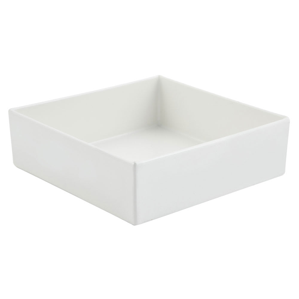 "Bon Chef 5107S 96-oz Straight Bowl, 10"" x 10"" x 3"", Aluminum/White"