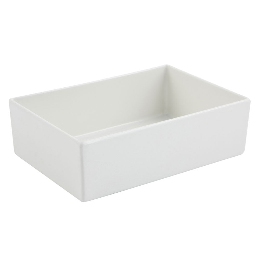 "Bon Chef 5108S 84-oz Straight Bowl, 10"" x 7"" x 3"", Aluminum/White"