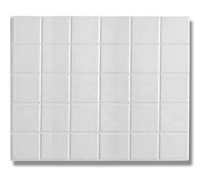 Bon Chef 52001S BLK 1/2-Size Tile, Aluminum/Black