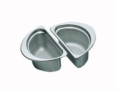 Bon Chef 5202 1/2-Oval Food Pan, 1-qt 24-oz, Stainless Steel