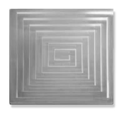 Bon Chef 52102 1/2-Size Rectangle Tile Inset, Stainless