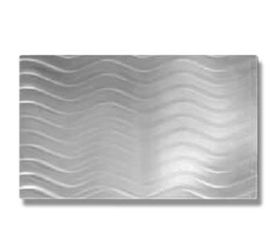 Bon Chef 52106 1/2-Size Swirl Tile Inset, Stainless