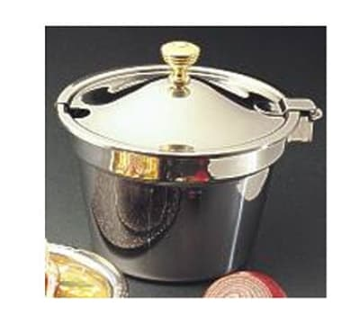 "Bon Chef 5214WHC Soup Tureen w/ Hinged Cover, 8"" Deep, Stainless"