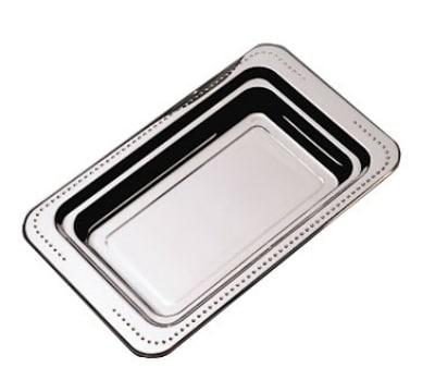 "Bon Chef 5307 Full Size Food Pan, 1.25"" Deep, Bolero, Stainless"
