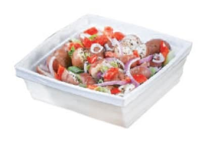 Bon Chef 53103 BLK 2-qt Square Bowl, Melamine/Black