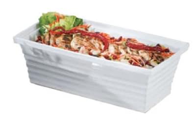 Bon Chef 53104 WH 3-Gallon 3-qt Square Bowl, Melamine/White