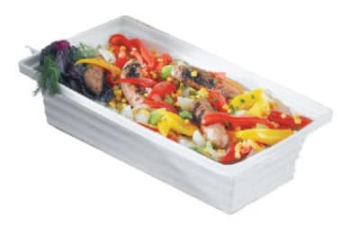 Bon Chef 53105 WH 10-qt Square Bowl, Melamine/White