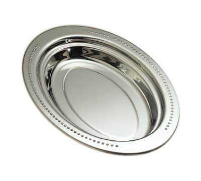 "Bon Chef 5388HLSS 2.5-qt Full Oval Food Pan w/ Long Stainless Handle, 2"" Deep, Bolero"