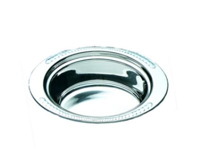 "Bon Chef 5403 Full Oval Food Pan, 4.25"" Deep, Laurel, Stainless"