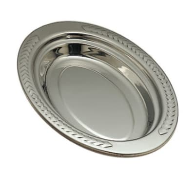 "Bon Chef 5488 Full Oval Food Pan, 2"" Deep, Laurel, Stainless"