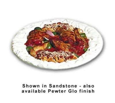 Bon Chef 5501S WH 5-qt Oval Pasta Bowl, Aluminum/White