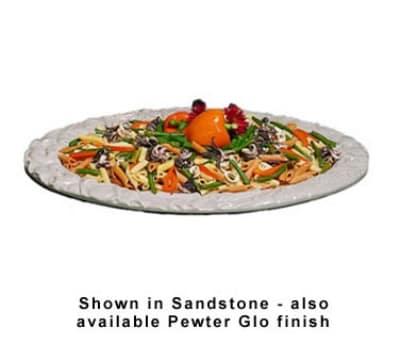 Bon Chef 5502S WH 10-qt Oval Pasta Bowl, Aluminum/White