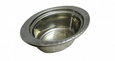 "Bon Chef 5603HRSS 3.75-qt Oval Food Pan w/ Round Stainless Handle, 4.5"" Deep,"