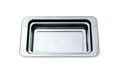 "Bon Chef 5606HRSS 1-Gallon Food Pan w/ Round Stainless Handle, 2.25"" Deep,"