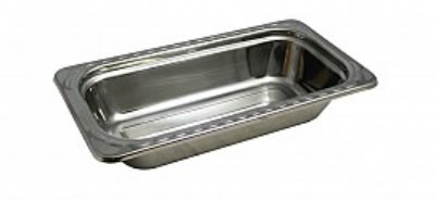 """Bon Chef 5615 1/3-Size Food Pan, 2.5"""" Deep, Arches, Stainless Steel"""