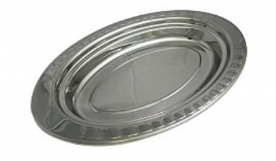 Bon Chef 5688HL 2.5-qt Full Oval Food Pan w/ Long Handle, Arches, Stainless