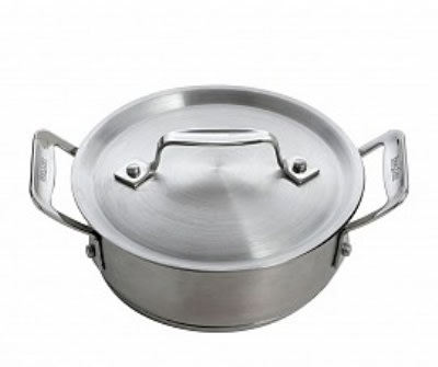 Bon Chef 60027 36-oz Cucina Casserole Dish w/ Lid, Induction Ready, 18/8 Stainless