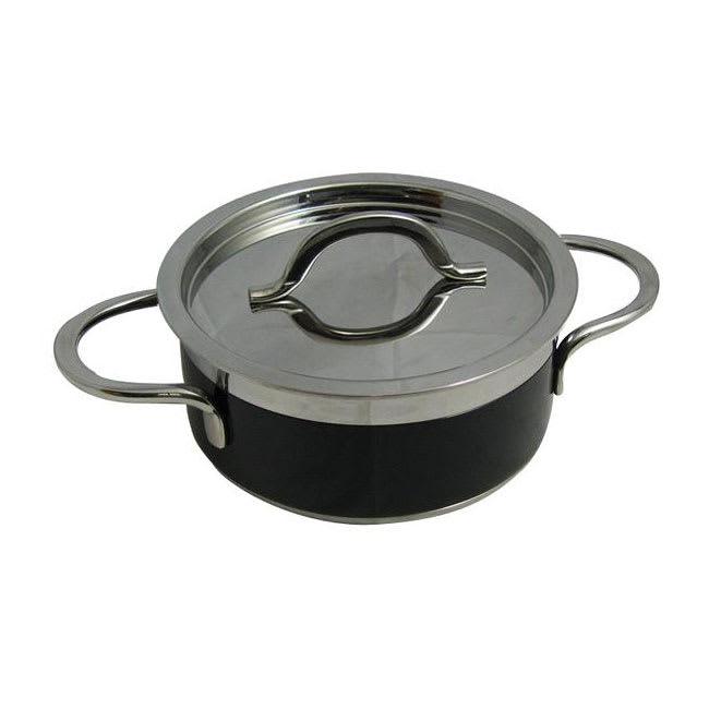 Bon Chef 60299 BLK 1.7-qt Enameled Tri-Ply Braiser w/ Lid, Black