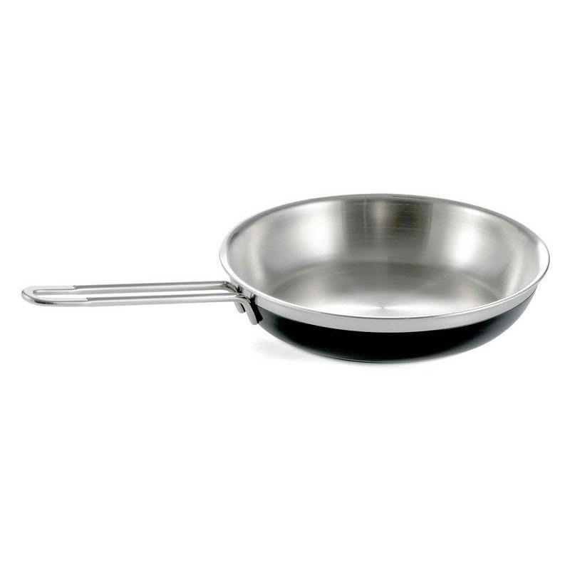 Bon Chef 60308 BLK 2.38-qt Enameled Tri-Ply Saute Pan/Skillet, Long Handle, Black