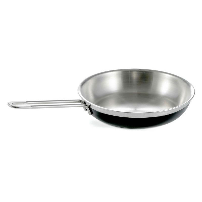 Bon Chef 60309 BLK 3.13-qt Enameled Tri-Ply Saute Pan/Skillet, Long Handle, Black