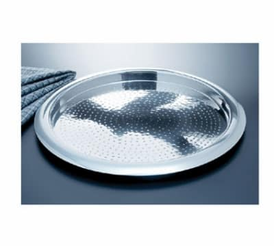 """Bon Chef 61277 13.25"""" Round Tray, Stainless Steel w/ Hammered Finish"""