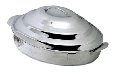 """Bon Chef 61279 23.25"""" Oval Insulated Server w/ Locking Lid, Stainless"""