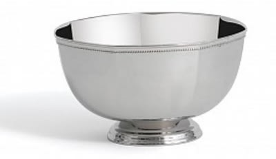 """Bon Chef 61321 8"""" Paneled Bowl, Stainless Steel"""