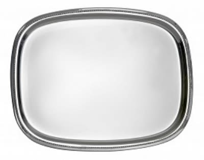 "Bon Chef 61351 13.75"" Oblong Tray, Stainless"
