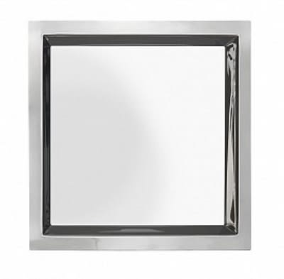 """Bon Chef 61364 15"""" Square Tray, Stainless"""