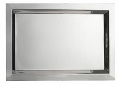 """Bon Chef 61365 13-1/8"""" Square Tray, Stainless"""
