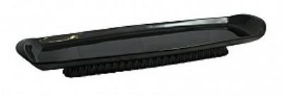 "Bon Chef 700389915S Footed Platter, 8.625"" x 27"" x 2"", Aluminum/Black"