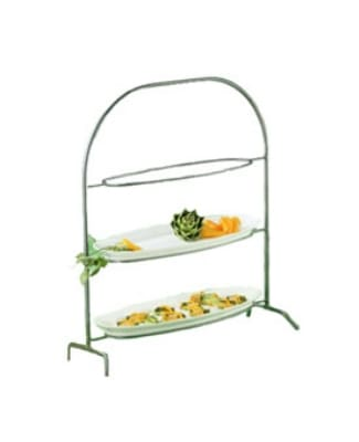 Bon Chef 7003S BLK Wire Display Stand For 2025, Aluminum/Black