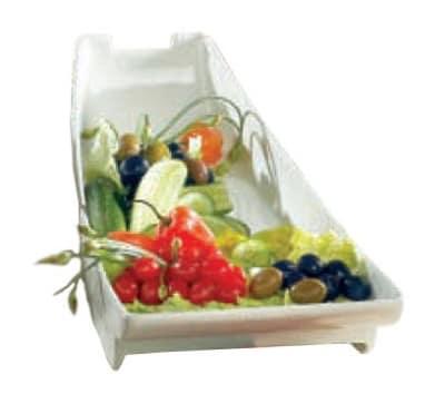 """Bon Chef 70063S WH Platter, 20 x 8 x 4.5"""", Aluminum/White"""