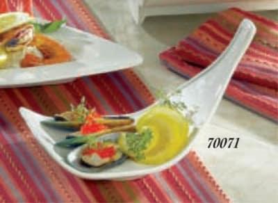 "Bon Chef 70071S BLK Sloped Platter, 9 x 6-1/8 x 5.5"", Aluminum/Black"