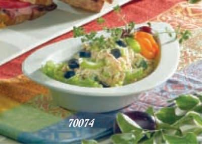 """Bon Chef 70074S BLK 12.5"""" Tear Drop Platter, 2"""" Deep, Aluminum/Black"""