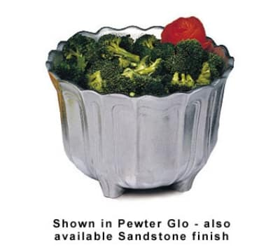 Bon Chef 9057S IVOS 3.5-qt Garnish Bowl, Aluminum/Ivory Speckled