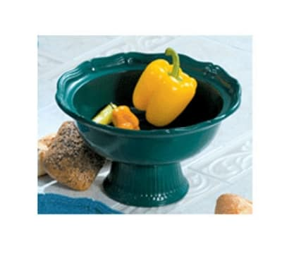 Bon Chef 90629059S TERRA 2-qt Salad Pedestal Bowl, Aluminum/Terra Cotta